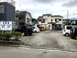 入口の前が駐車場